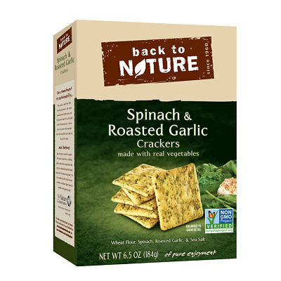 Back to Nature Spinach and Roasted Garlic Cracker, 6.5 Ounce -- 6 per case.