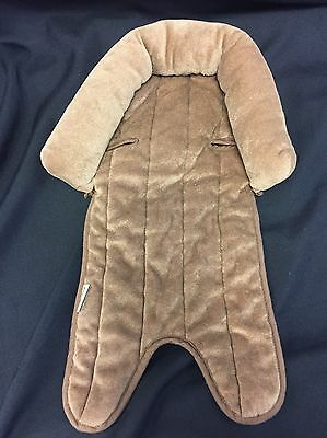 Infant Head Support Insert Eddie Bauer Car Seat Replacement Cushion Brown