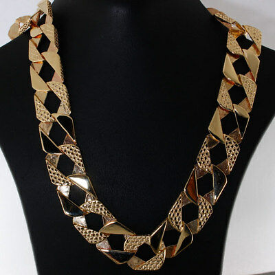 "NEW Heavy 9ct Gold Solid Curb Chain 68 G 22"" RRP £2745 {C19_22}"