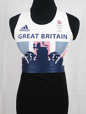 b8f851a7cfd4 Official Ladies ADIDAS RIO 2016 Olympics Running Yoga Gym Crop Top Size 6 -  14