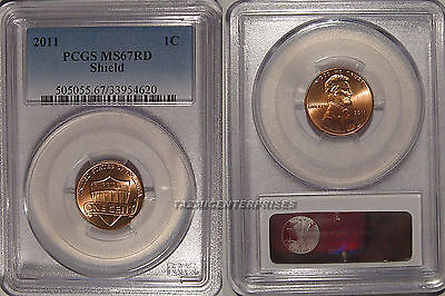 2011 P Lincoln SHIELD 1c Cent PCGS MS67RD