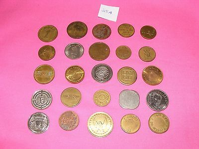 Lot of 25 Assorted Tokens, Gaming, Vending, Etc...  Lot #25A