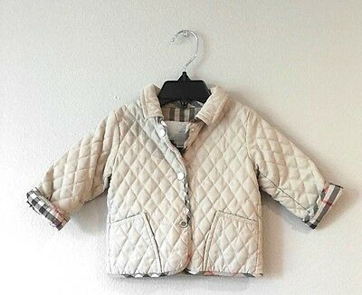 Burberry Baby Quilted Boy Girl Jacket Sz 6 months Unisex