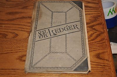 New England Small Town Doctor 1921 Diary Ledger Book Homeopathic Rx Medicine...s