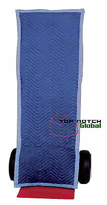"""Square-Top Hand Truck Cover - 16"""" W x 51"""" H - Padded Protection Moving Blanket"""