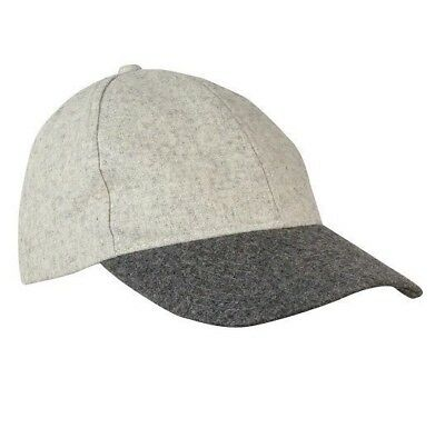 New August Accessories Women's Gray Two-Tone Sports Baseball Cap Adjustable Hat