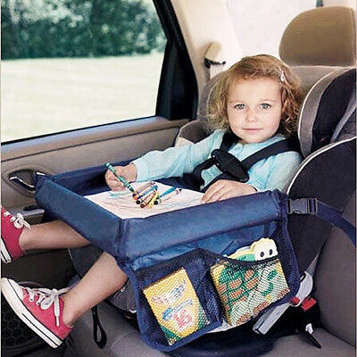 Waterproof Baby Safety Travel Tray Drawing Board Table Kids Car Seat Snack FF