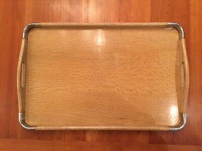 """Vintage Large """"Crissy Tray"""" Wooden Tea Serving Tray Made in Japan"""