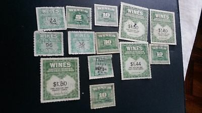 us revenue stamp wines  collection h1033