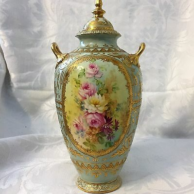 Rare 1800's Gold Encrusted Royal Bonn Covered Urn Red Mark