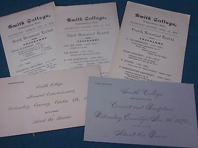 Lot of 1870's Documents Relating to Smith College