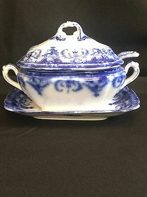 Antique  Wedgewood Sauce Tureen with Platter & Ladle