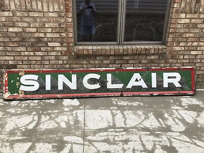 Sinclair Porcelain Sign Gas And Oil