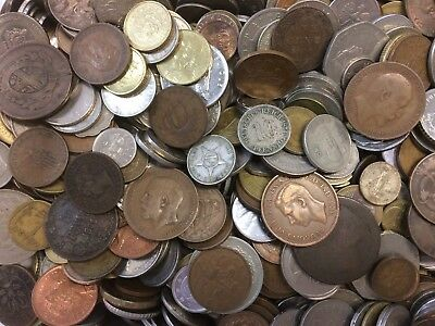 5 lbs of mixed World / FOREIGN COINS! Many Countries! Old And New!