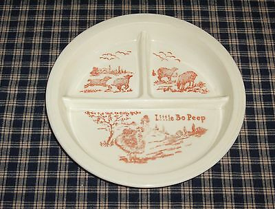 Vintage Transferware Childs Divided Plate Little Bo Peep