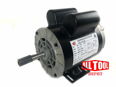 "2 HP SPL 3450 RPM 56 Frame 120/240V 15/7.5Amp 5/8"" Shaft Single Phase NEMA Motor"