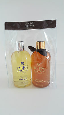 Molton Brown Oudh Accord & Gold Shower Gel  + Caju & Lime Body Wash- 300ml .