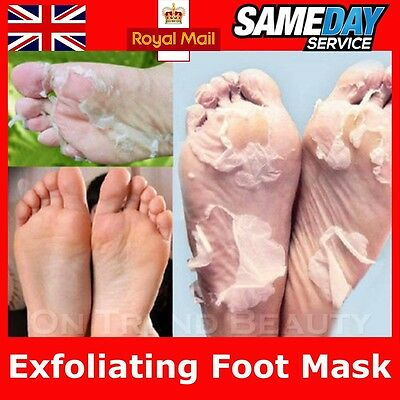 4Pc Exfoliating Peel Foot Mask Socks Baby Soft Feet Remove Hard Dead Skin Callus