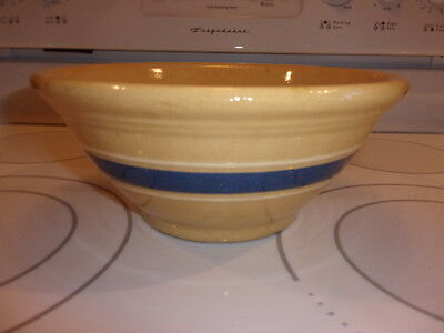 Antique Rare Early Banded Yellow Ware Mixing Bowl Jeffords ?