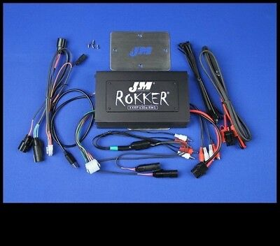 J&M ROKKER 700w 4-CH Amp for 2015-17 Harley RoadGlide w/Rear or Lower Speakers