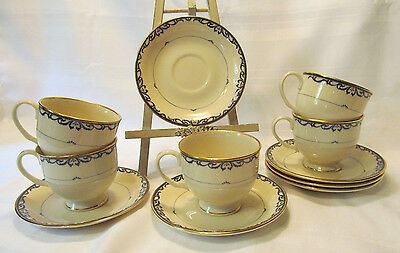 Lenox USA Presidential Collection Fine China LIBERTY 5 Cups 6 Saucers