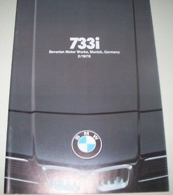 1978 BMW 733i, 633CS, 320i, 528i PRESTIGE DEALERS SALES BROCHURE, EXC COND