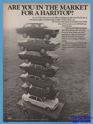 1971 Volvo Are you in the market for a hardtop? stacked cars vintage photo ad