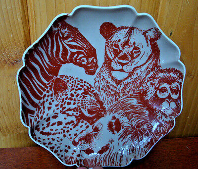 1975 Fitz And Floyd Decorative Jungle Plate Japan Hand Decorated, No Two Alike