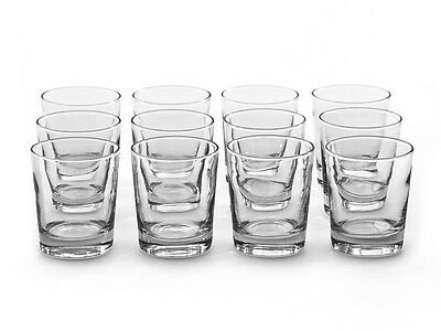 Set Of 12 Whiskey Whisky Glass Scotch Tumbler Drinking Water Party Gift Cafe Bar