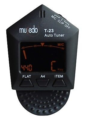 NEW Musedo pentagon clip on tuner model T-23 chromatic Violin Guitar Bass Uke