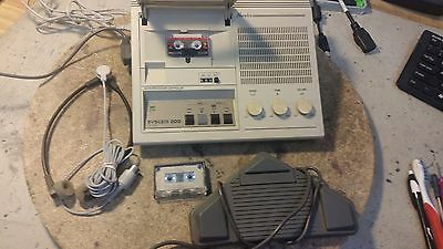 NORELCO Philips SYSTEM 200  Minicassette Transcriber Machine w/ pedal