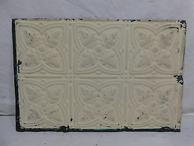 "12"" x 18"" Antique Tin Ceiling Tile - C. 1890 Fluer De Lis Architectural Salvage"
