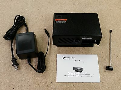 Motorola Pager Minitor V 5 Docking Station RLN5869A With Owners Manual