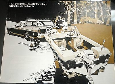 1971 Buick trailer travel information brochure free shipping