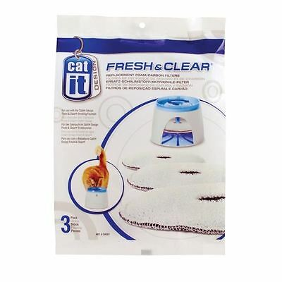 FRESH CLEAR recharge 3 filtres pour fontaine