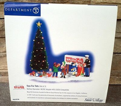 Department Dept 56 Snow Village Toys for Tots RARE 55026 in box