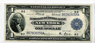 National Currency $1,federal Reserve Bank Of New York,series 1918