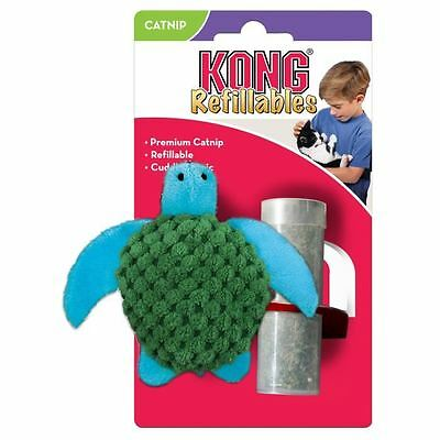 KONG Peluche rechargeable avec herbe a chat Cat Refill Catnip Turtle - Pour chat