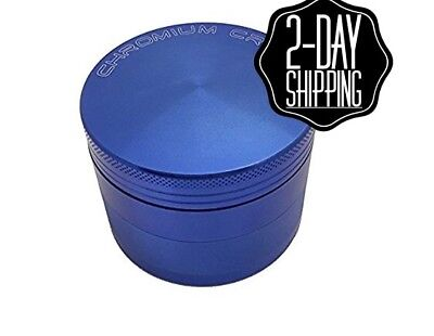 Large Tobacco Grinder 2.5 inch Aluminum Herb/Spice Alloy Smoke Crusher 4 Piece
