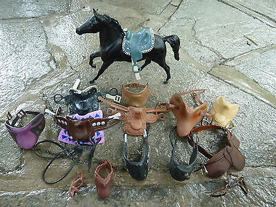 Lot of Breyer Classic Horse Accessories: Saddles, Pads, Bridles,
