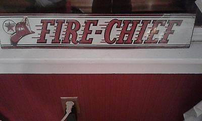 Texaco Fire Chief Metal sign New!!