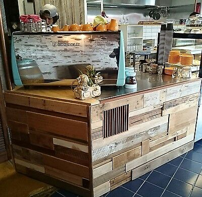 Vintage Industrial Bar Cafe Shop Counter Custom made recycled timber