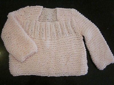 Hand Knitted Baby Jumper  Size 000  New Without Tags