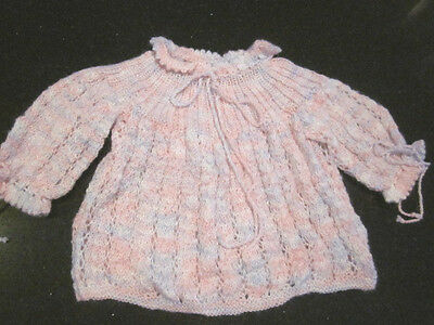 Hand Knitted Baby Angel Top  Size 000  New Without Tags
