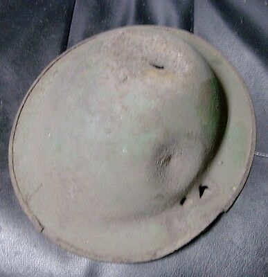 WWI Doughboy Helmet - Bullet or Shrapnel Holes