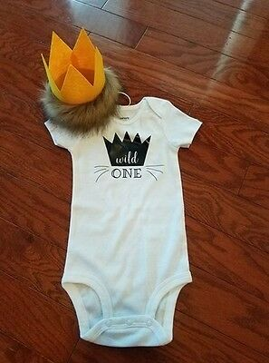 Wild Things Are 1st Birthday Outfit Custom Made 12 Months