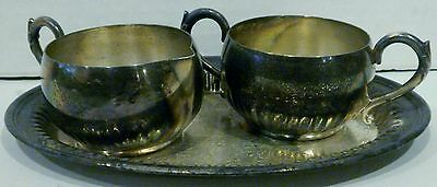 Vintage Oneida LTD Silverplated Sugar and Creamer with Tray