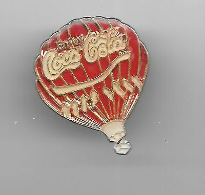 Vintage Coca-Cola Hot air Balloon old enamel pin