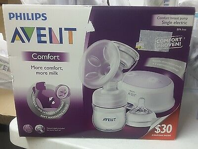 Philips Avent Single Electric Comfort Breast Pump, 5 PC Bonus Kit + $30 Coupons!