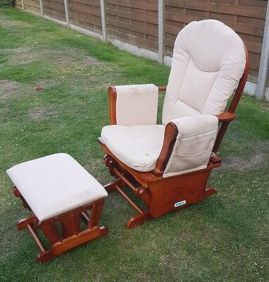 Babylo Gliding Nursing Chair and Foot Stool.